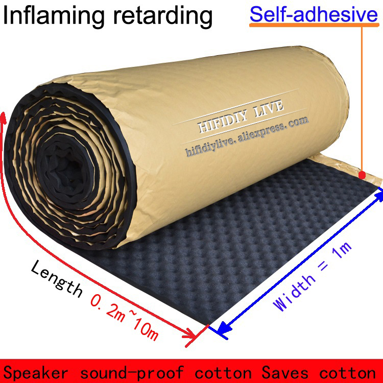 Acoustic Insulation Of Acoustic Insulation Material Acoustic Wave Absorber Cotton Black Egg Cotton Flame-retardant Self-adhesive