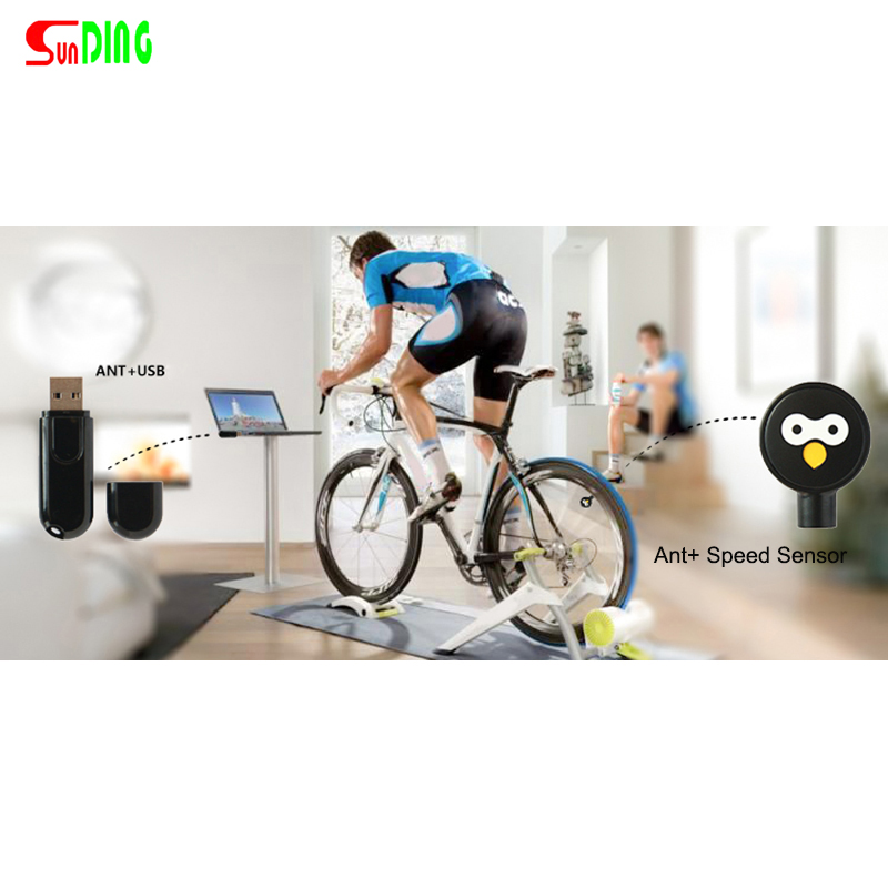 Zwift Ant+USB Sticker Ciclocomputer Ant Speed Sensore for Tacx Wahoo Garmin Bkool Bicycle Trainer Indoor Riding Ant+USB Receiver