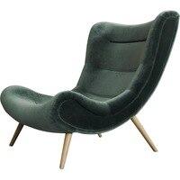 [InYard original]Dark one seat green sofa chair velvet lazy sofa for living room