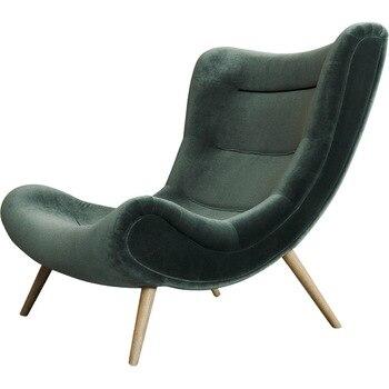 Inyard Original Un Asiento Oscuro Sofa Verde Silla De Terciopelo