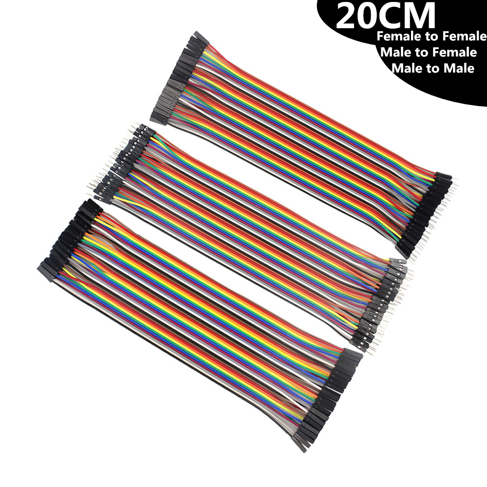 20CM Female to Female Male to Female Male to Male Dupont Cable Jumper Wire Dupont Line for arduino Diy dupont line 120pcs 20cm male to male male to female female to female jumper wire dupont cable for arduino diy kit
