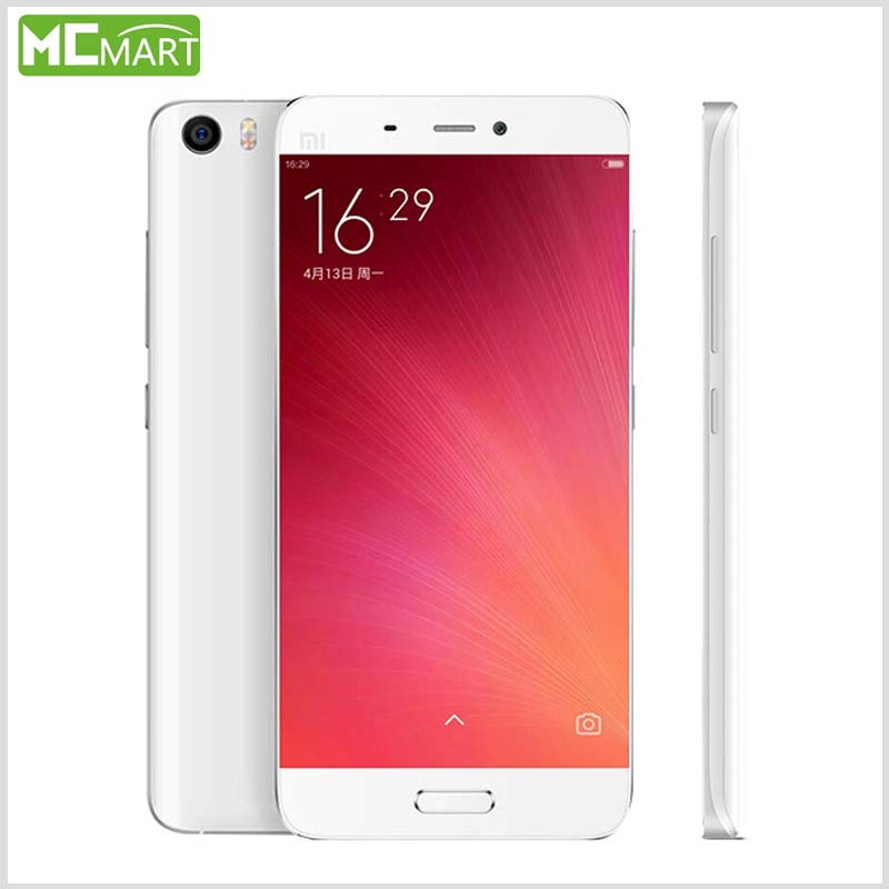 Original Xiaomi Mi5 smartphone Mi 5 Snapdragon 820 3GB RAM 32GB ROM 3000mAh Dual SIM Card 4K Video Mobile Phones