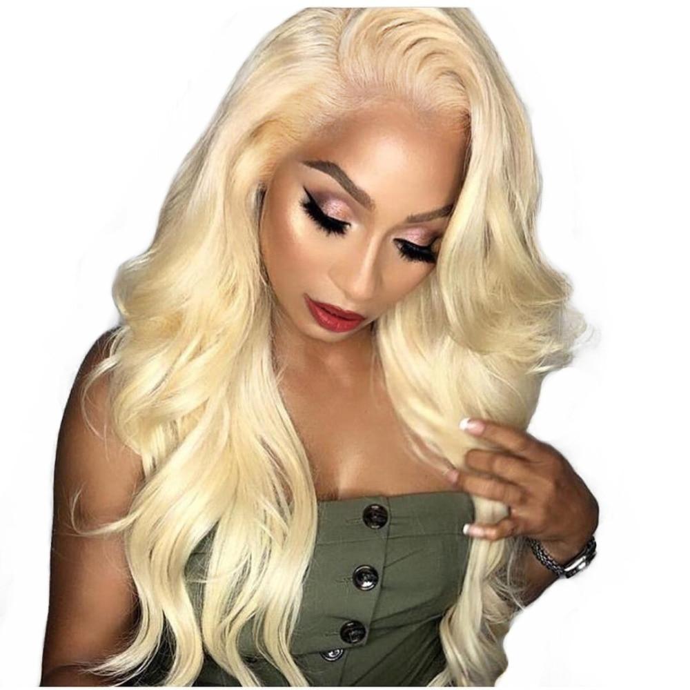 613 Blonde Dentelle extensions capillaires 360 Dentelle Frontale Perruque Pleine Fin Corps Vague Miel Blonde Couleur cheveux humains Perruques Pour Femmes Noir remy