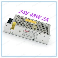 Switching power supply Driver 24V 2A 48W For LED Light Strip Display AC100V 240V Factory Supplier