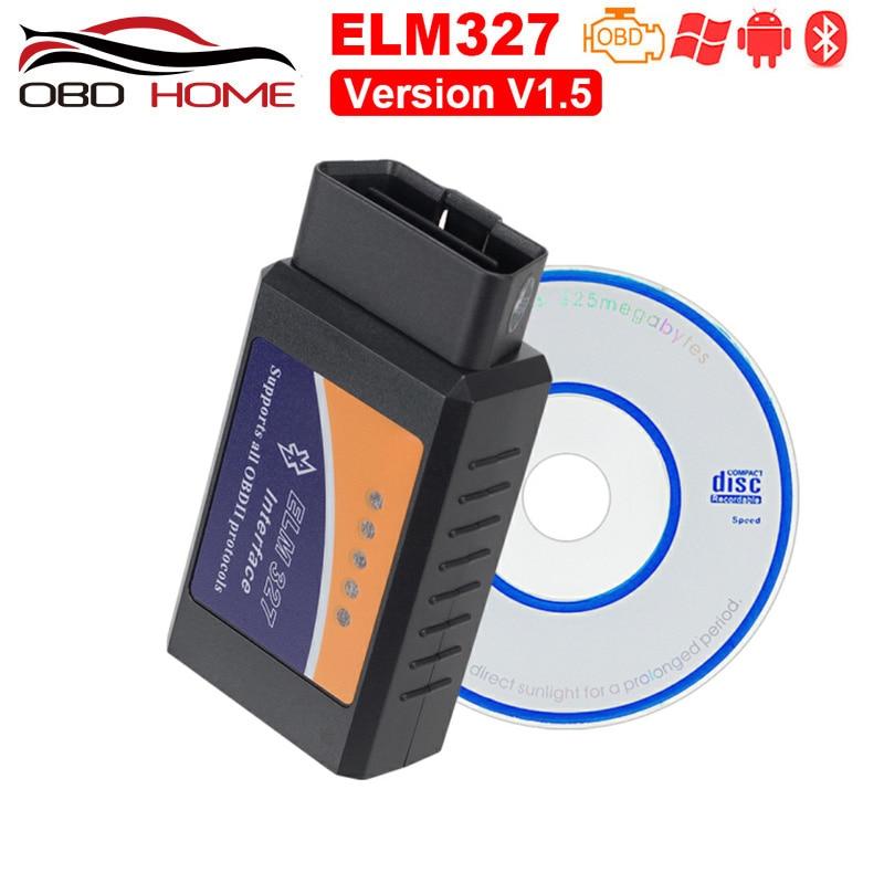 Obd2 Mini Elm327 Bluetooth OBD2 V1 5 Elm 327 V 1 5 OBD 2 Car Diagnostic-Tool Scanner Elm-327 OBDII Adapter Auto Diagnostic Tool
