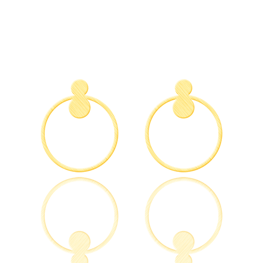 GORGEOUS TALE Circle Korea Style Round Earring Charm Hollow Metal Ear Ring Long Brincos for Women Jewelry Oorbellen Pendientes