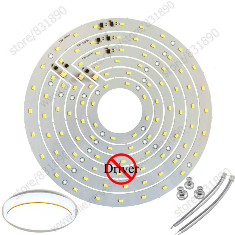 2pc AC 220V led Modules Ceiling PCB Plate 12W 18W ceiling aluminum plate SMD5730 Epistar Chip Driverless for ceiling lights DIY 30w 155mm dc12v led pcb input dc 12v needn t driver smd5730 super brightness aluminum lamp plate