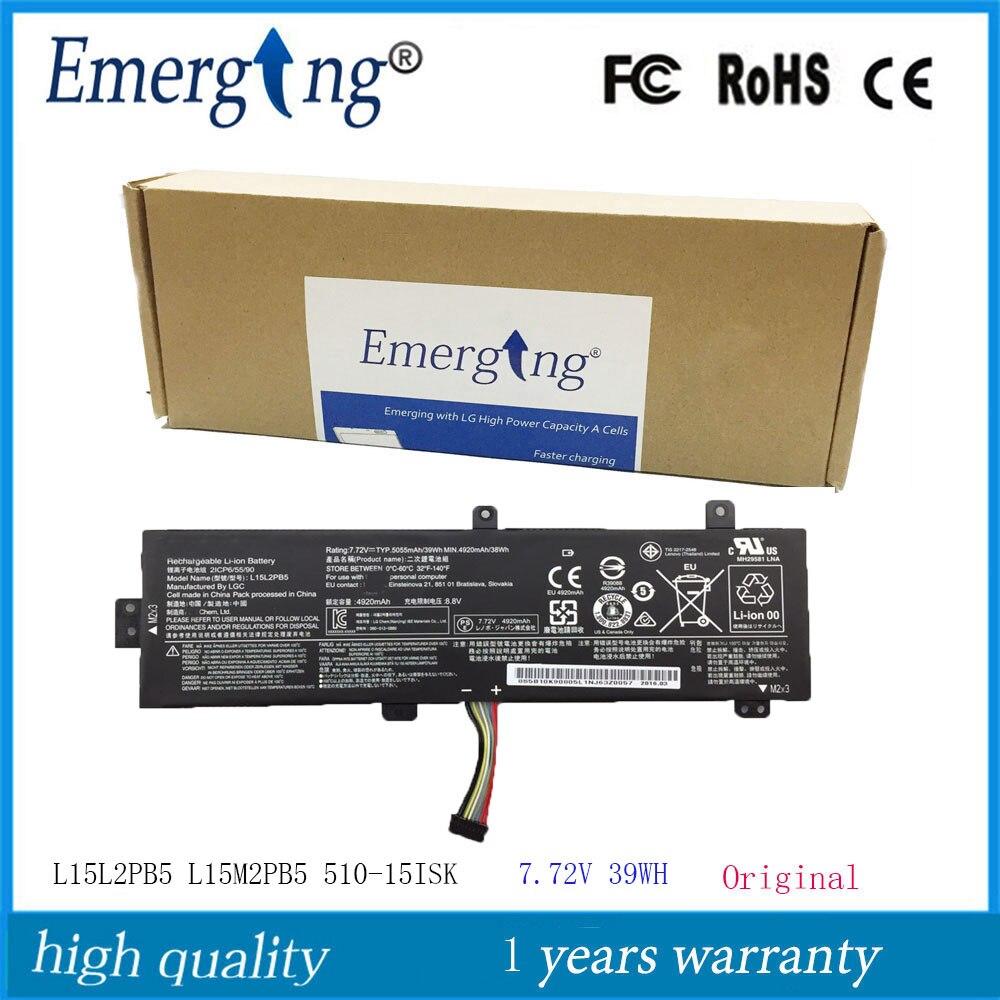 Bateria nova original l15l2pb5 do portátil de 7.72 v 39wh para lenovo xiaoxin 310-15ikb 510-15ikb l15m2pb5 l15m2pb3