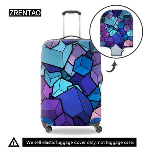 colorful luggages covers