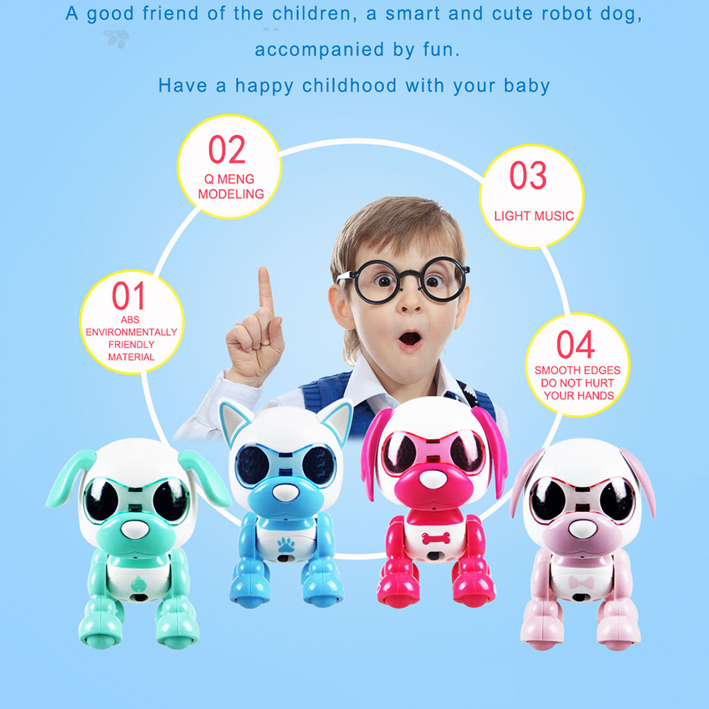 MrY Baby Electric Dogs Toy Interactive Smart Puzzle Pet  Recording Voice Changer Sound Light  Early Educational Gift