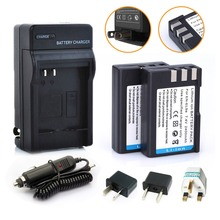 HIBTY 2400mAh Digital 2pcs EN EL9 EN EL9A LI ION Camera Battery charger Adapter For Nikon