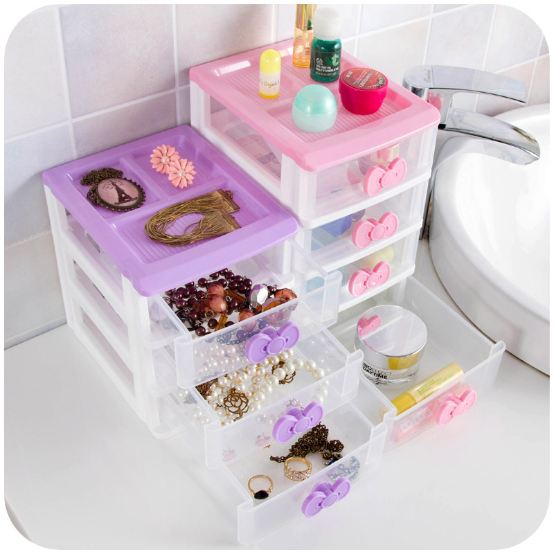 Butterfly Princess Desktop Storage Box Drawer, multi-colored small objects storage cabinets organize jewelry box