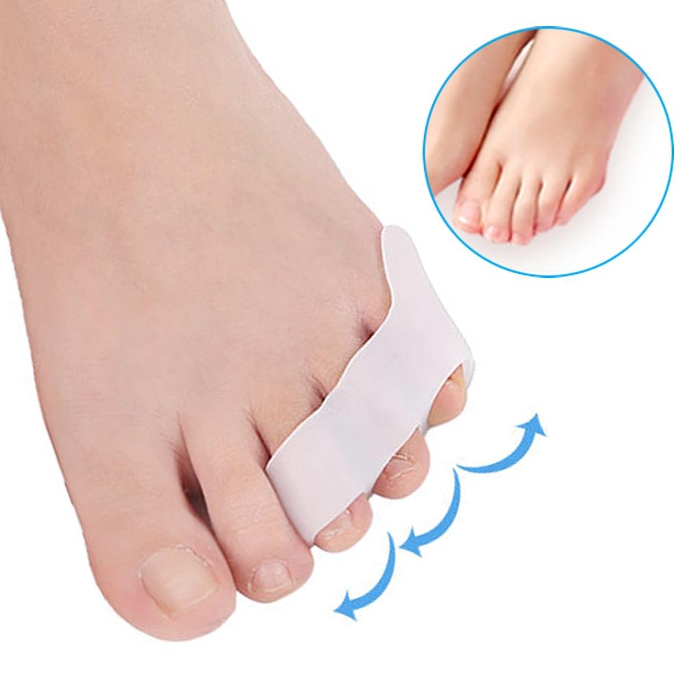 Demine 2 Pcs Silicone Gel Small Toes Separator Corrector Toe Orthotics Bunion Hallux Valgus Anti Eversion Overlap Inserts Pads цена