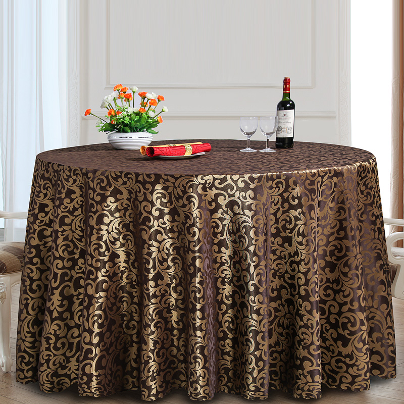 Polyester Round Tablecloth Rectangular Dining Table Cloth Hotel