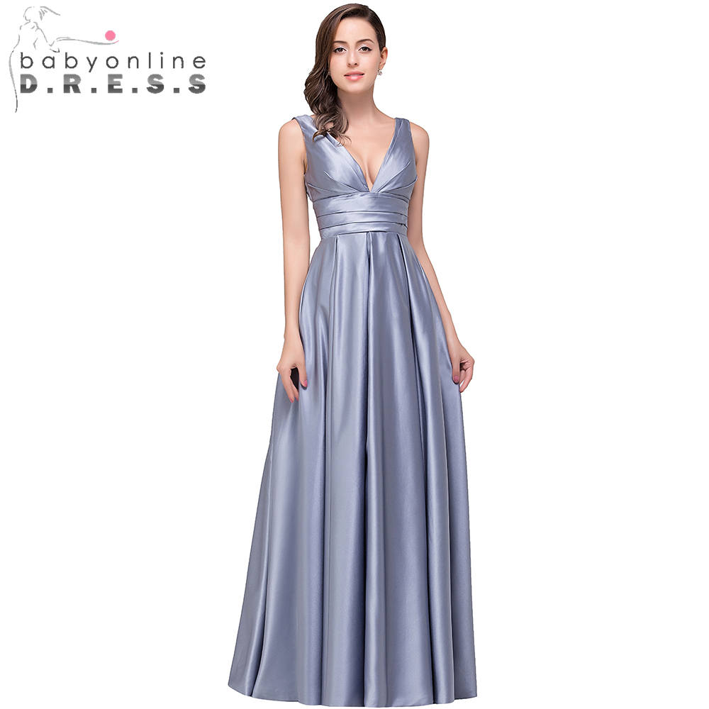 Online get cheap silver bridesmaid dresses cheap aliexpress real photo purple silver long maternity bridesmaid dresses 2017 cheap floor length v neck wedding party ombrellifo Gallery