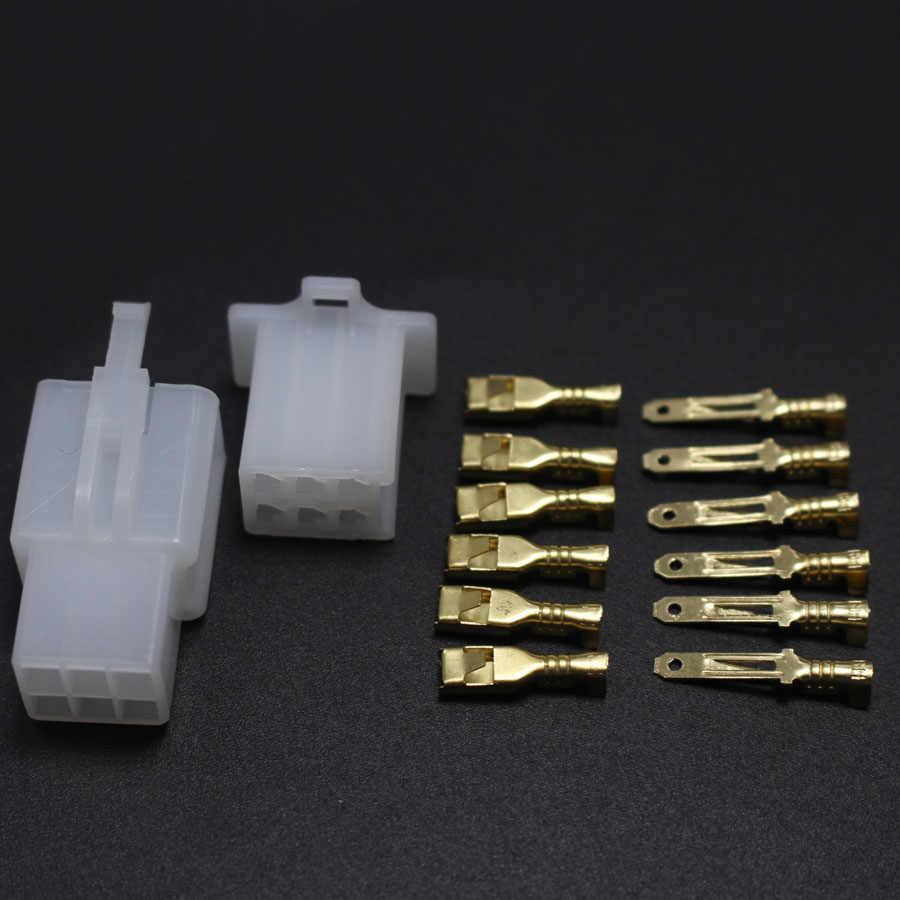 5 set/lot 2.8mm 2/3/4/6/9 pin Otomotif Konektor 2.8 kabel Listrik Laki-laki kabel terminal plug Kit Sepeda Motor ebike mobil perempuan