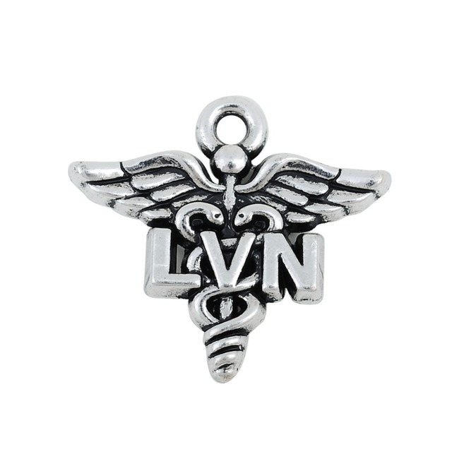 Skyrim 10pcs Medical Symbol Lvn Snake Professional Nurse Jewelry