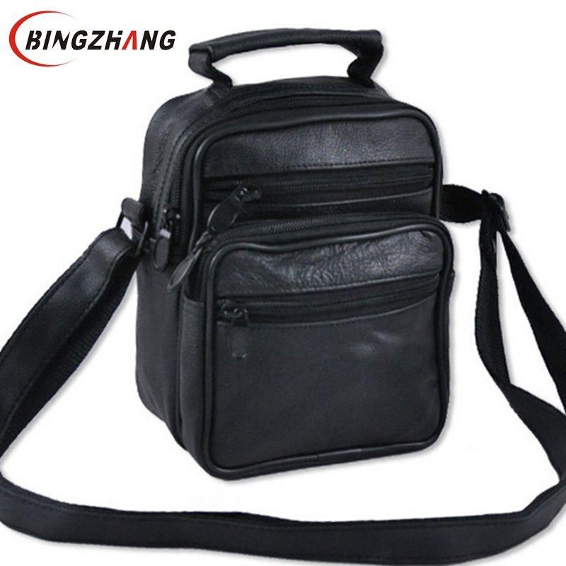 2017 New On Sale Men Messenger Bags Brand Vintage Men'S Travel Bag Quality Genuine Leather Men Crossbody Bag L4-1364 best new product on sale 30