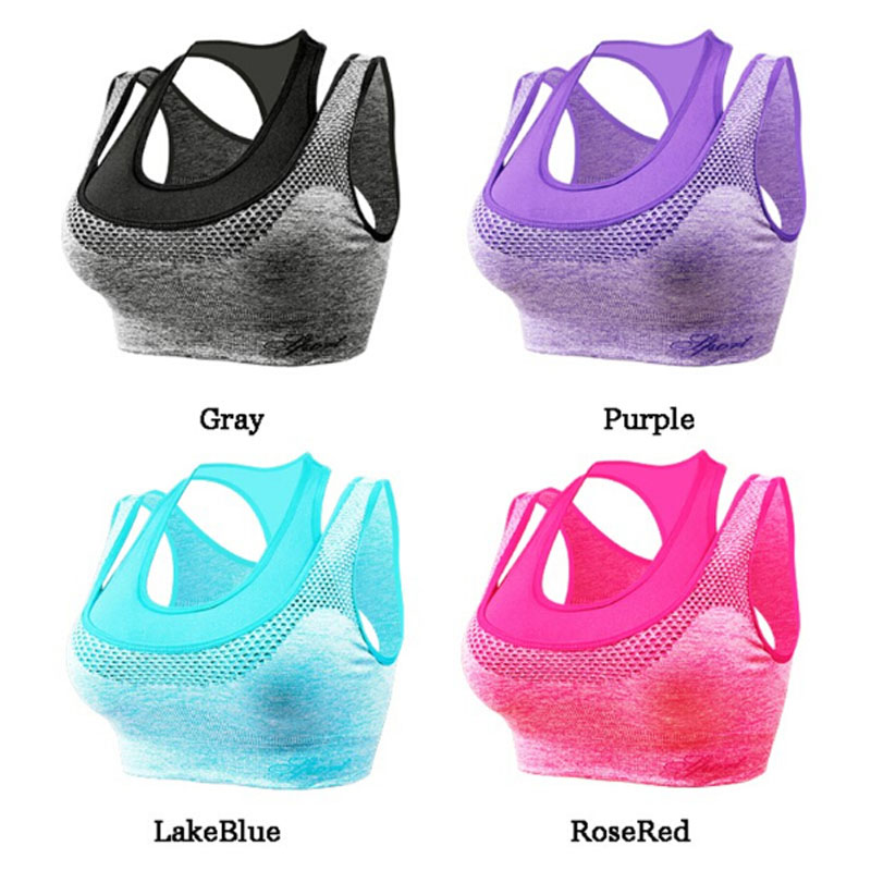 Aliexpress.com : Buy No rims fake two sports bras Professional ...