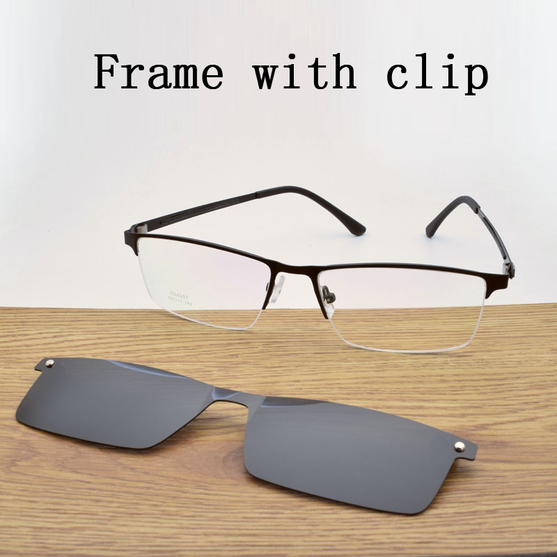 Glasses Frame Male Wide Face Myopia Glasses With Magnet Polarized Lens Sunglasses UltraLlight Glasses Frame Big