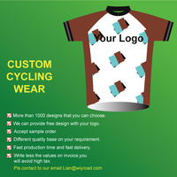 5 Pieces Free Shipping By DHL Mixed Design Short Sleeve Custom Cycling Jersey Cycling Kits Coolmax