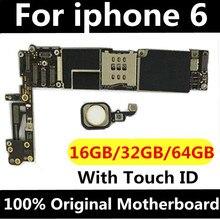 Оригинальная разблокированная материнская плата для iphone 6 с сенсорным ID/без Touch ID, для iphone 6 логические платы, 16 ГБ/64 Гб/128 ГБ