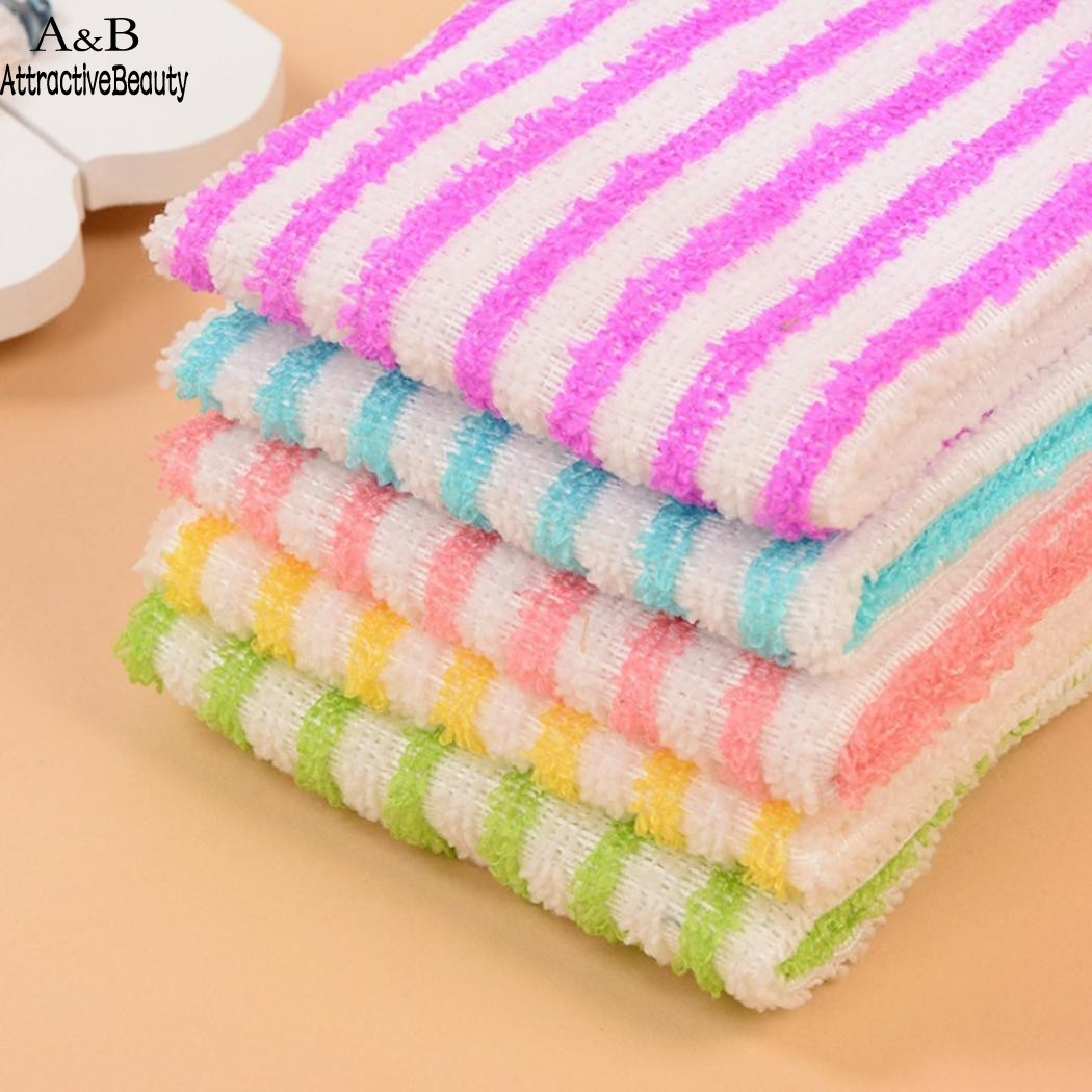 Wholesale 5 Pcs/Set Soft Cleaning Cloth Superfine Fiber Removes Grease Bacteria Polishes Kitchen Tools n20*