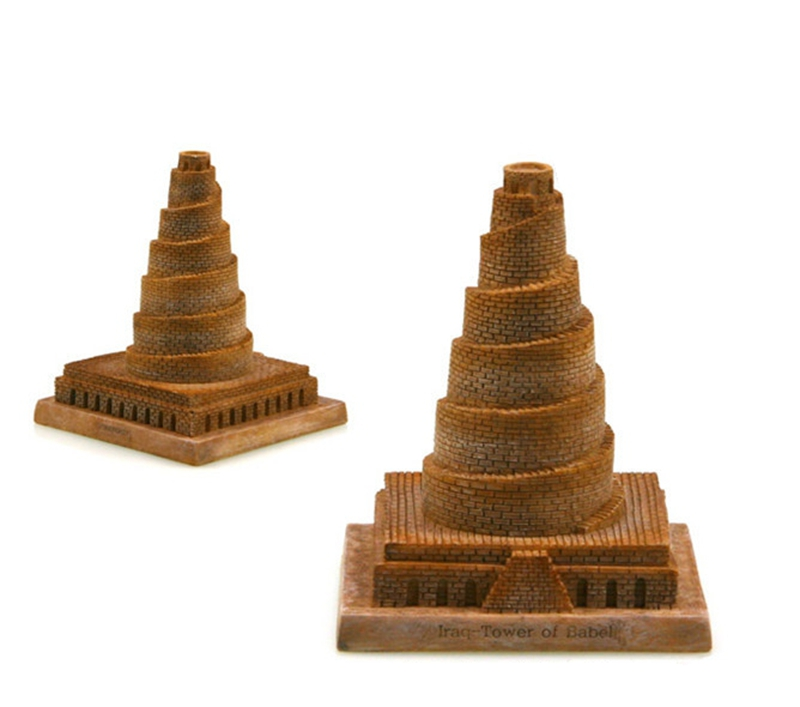 Hot Sale Iraq Tower Of Babel Creative Resin Crafts World Famous Landmark Model Tourism Souvenir