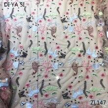 2018 high quality cotton lace heavy beading handmade  rendas para artesanato de todos os tiposcotton fabric ZL147