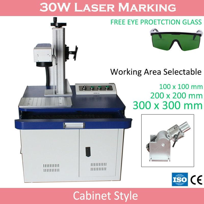 Bärbar Mini Cnc-färg 3D-lasergraveringsmaskin för guld- och silversmycken med 300x300mm arbetsområde