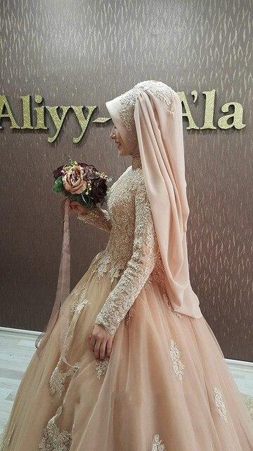 Arabisch Langarm Moslemisches Hochzeitskleid Brautkleider Türkei ...