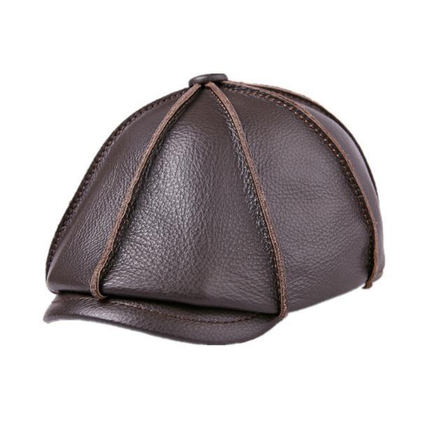 Kopfbedeckungen Für Herren Männer Der Natürliche Kuh Leder Mode Im Freien Achteckige Hüte Frauen Aus Echtem Leder Casual Achteckige Hüte Tb373 Verkaufspreis
