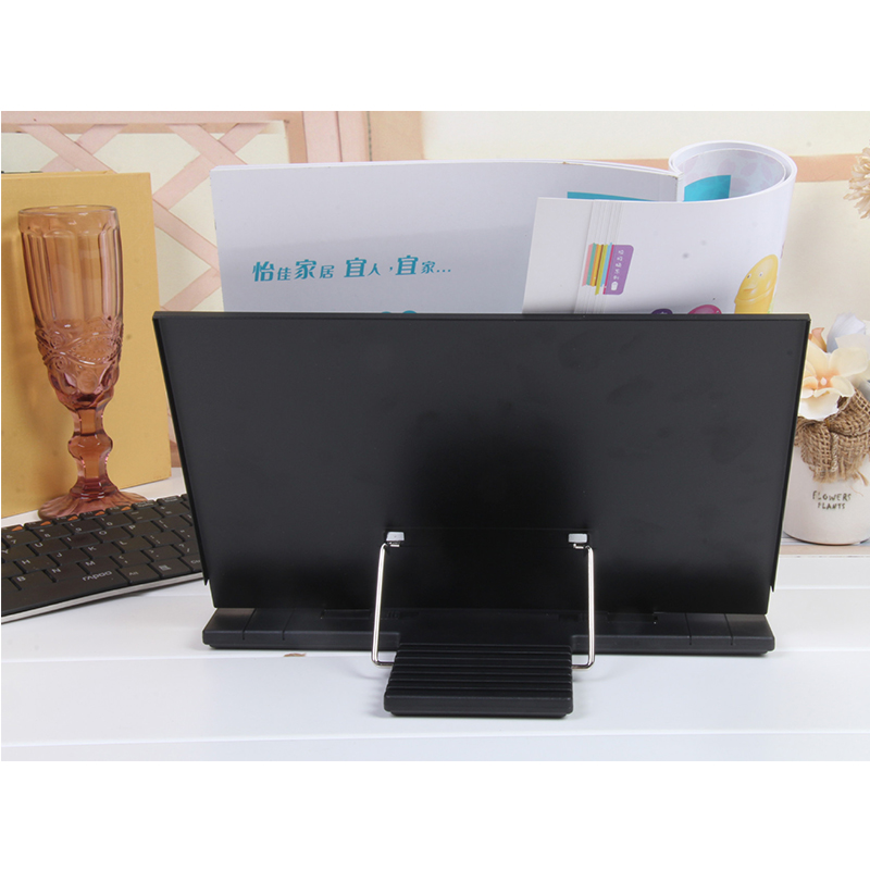Portable Book Stand Frame Reading Desk Holder with 7 Tilt Adjustable Grooves Black in Bookends from Office School Supplies