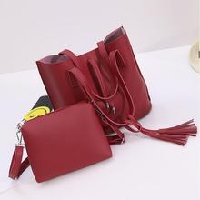 2017 primavera nuevos bolsos de moda de Alta calidad de cuero de LA PU Mujeres del bolso Femenino del Bolso Del Diseñador de la borla de bala Del Hombro Messenger bag