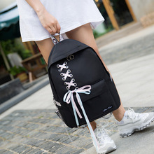 Women Backpack Preppy Style Bookbag for Teenage Girls Lace B