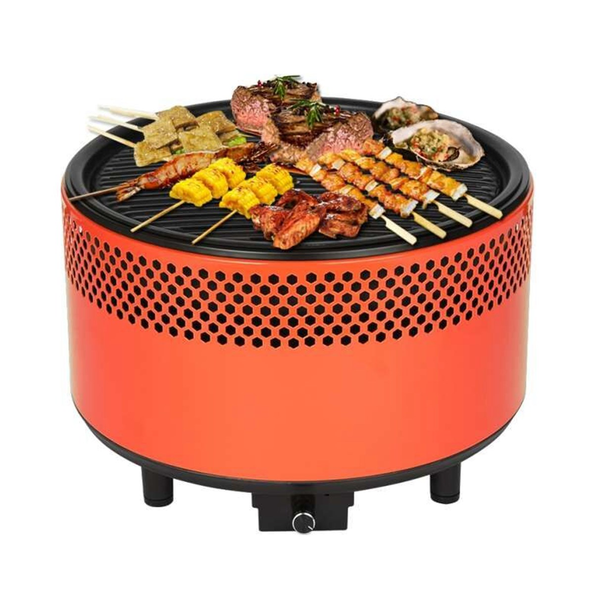 все цены на Portable Picnic BBQ Grill Oven Charcoal Round Barbecue Stove Roasting Tray Meat Cooker Outdoor Camping Hiking Cooking stove онлайн
