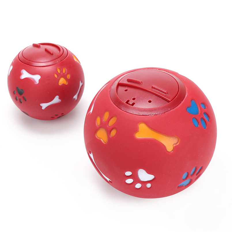 Dog Pet Toys Leakage Food Ball 7.5 11 cm Pure Natural