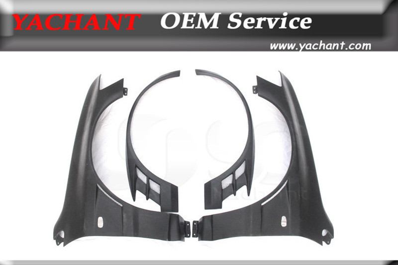 FRP Fiber Glass Parafango Anteriore Fit Per 01-07 Lancer Evolution 7-9 EVO 7 8 9 VTX Cyber Versione Style + 20mm Parafango Anteriore con Flare