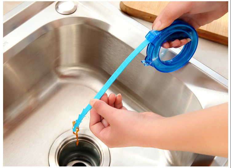 1 Pcs Home Cleaning Brushes Tools Accessories Drain Sink Cleaner Bathroom Unclog Sink Tub Snake Brush