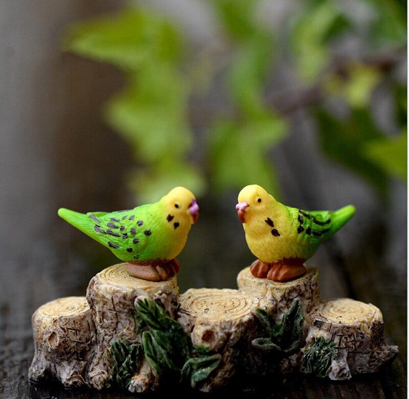 d1bae01fead6a Papagaio Figuras de Animais Em Miniatura Estatueta mini fada do jardim  Micro Paisagem Do Aquário do tanque de peixes ofício da resina estátua de  animal ...