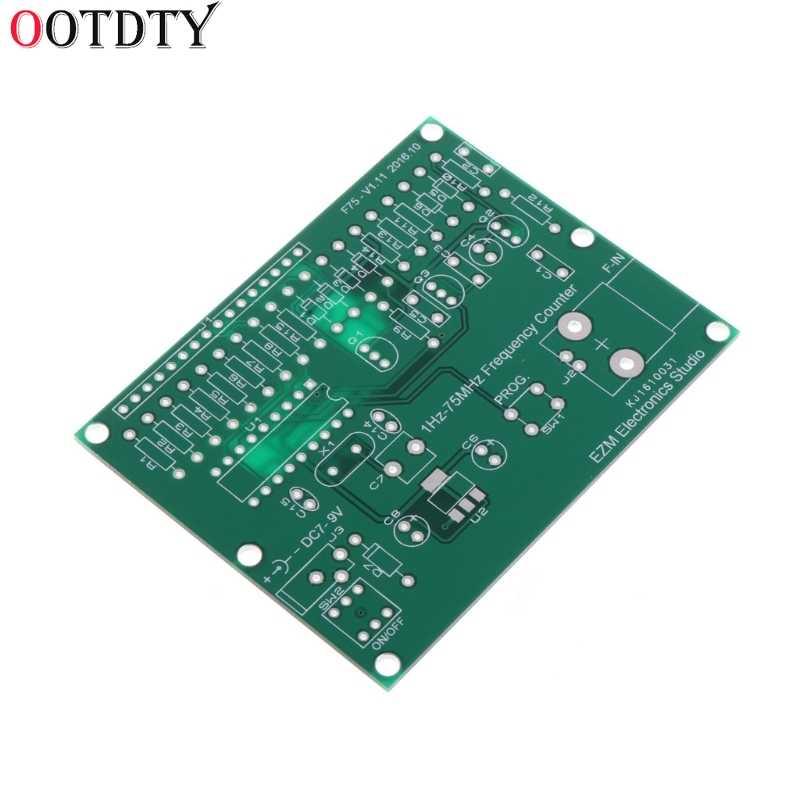 Ootdty 1Hz-75 Mhz Frequentie Teller 7V-9V 50mA Diy Kit Cymometer Module Tester Meter