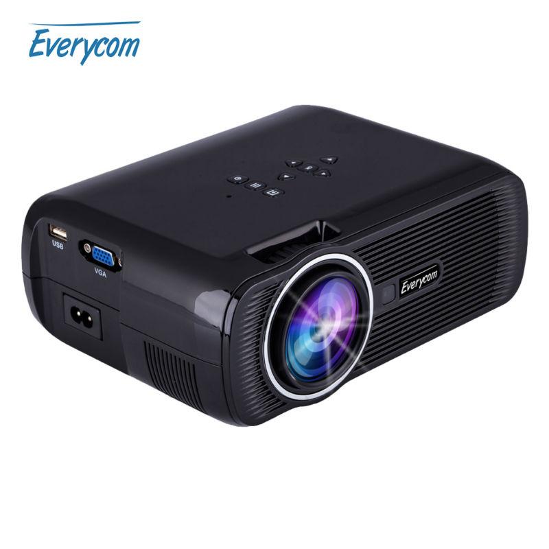 Prix pour Everycom x7 mini projecteur 1800 lumens tv home cinéma led projecteur soutien Full Hd 1080 p Vidéo Media player Hdmi LCD 3D Beamer