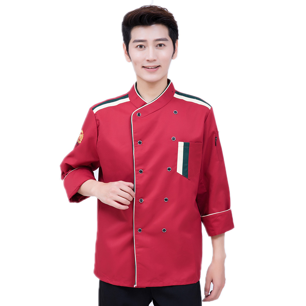 4 Color Long-sleeve Double-breasted Restaurant Chef Jacket Kitchen Cook Suit Man And Woman Kitchen Work Clothes