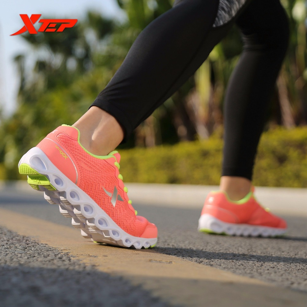 XTEP Cushioning 2017 Sneakers Women's Athletic Sport Running Walking Shoes For Female Multi-function Comprehensive Training peak sport men outdoor bas basketball shoes medium cut breathable comfortable revolve tech sneakers athletic training boots