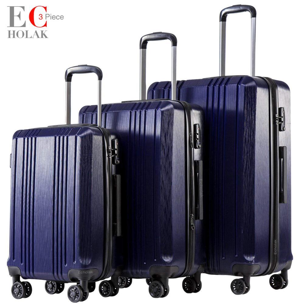 3 ชิ้นชุดกระเป๋ากับ TSA Lock Spinner 20in24in28in กระเป๋าเดินทางขยายได้ PC + ABS 3 ชิ้นชุดกระเป๋าเดินทาง Hardside-ใน กระเป๋าเดินทางแบบแข็ง จาก สัมภาระและกระเป๋า บน AliExpress - 11.11_สิบเอ็ด สิบเอ็ดวันคนโสด 1