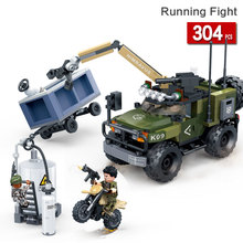 assembled Battle terrorist off-road vehicle armored car military war Compatible With Enlighten building blocks toys for children