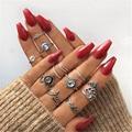 Tocona Бохо Корона луна сердце стразы геометрические цветы искусственные для женщин кольца на средний палец штабелируемые ювелирные изделия ...