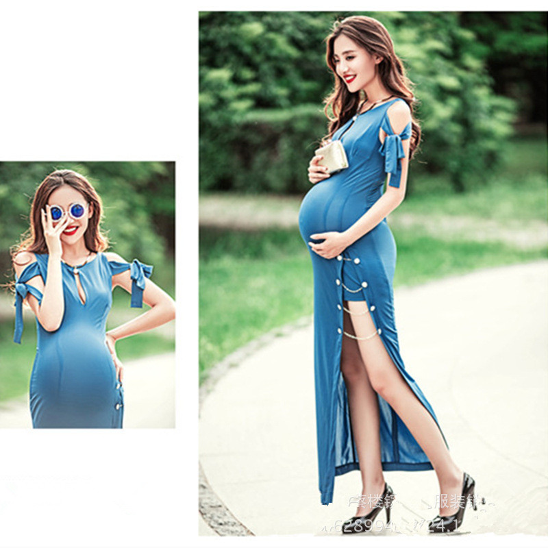 Maternity Photography Dress Maternity Photography Props Stretch cotton Clothes For Pregnant Women Dress Pregnant Pregnancy Gown maternity photography props clothes for pregnant women dress pregnancy clothes photography white long maternity dress