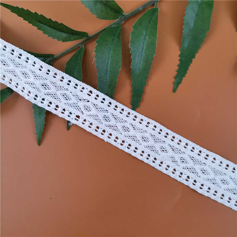 Nowy gorący korzystając z łączy z boku 2.5cm haft rozpuszczalne w wodzie koronki kodów kreskowych rozpuszczalne w wodzie koronki haft ręcznie szyte wysokiej jakości odzież DIY