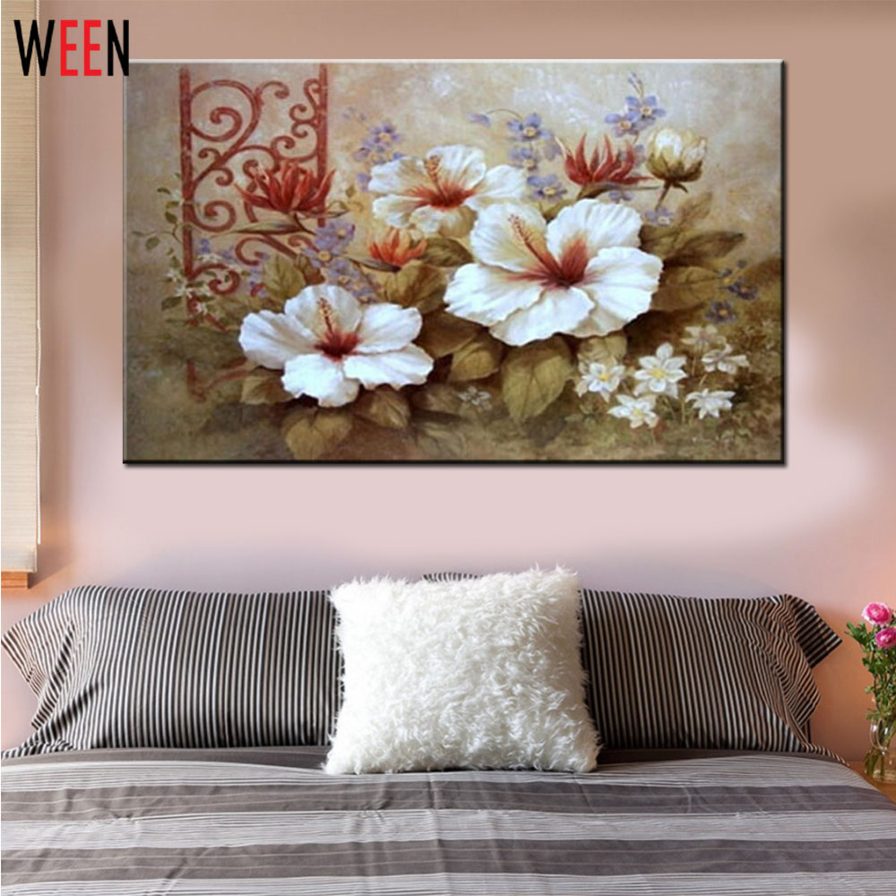 Flower Painting Coloring By Numbers DIY Cuadros Decoracion W